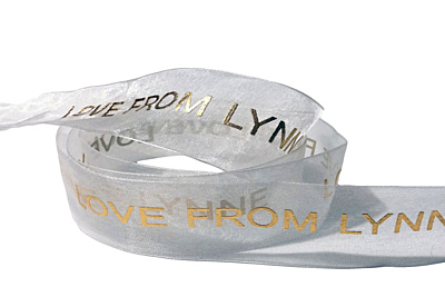 Custom Printed Organza Ribbon