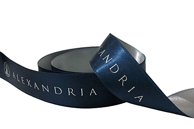 Custom Printed Duo-Color Satin Ribbon